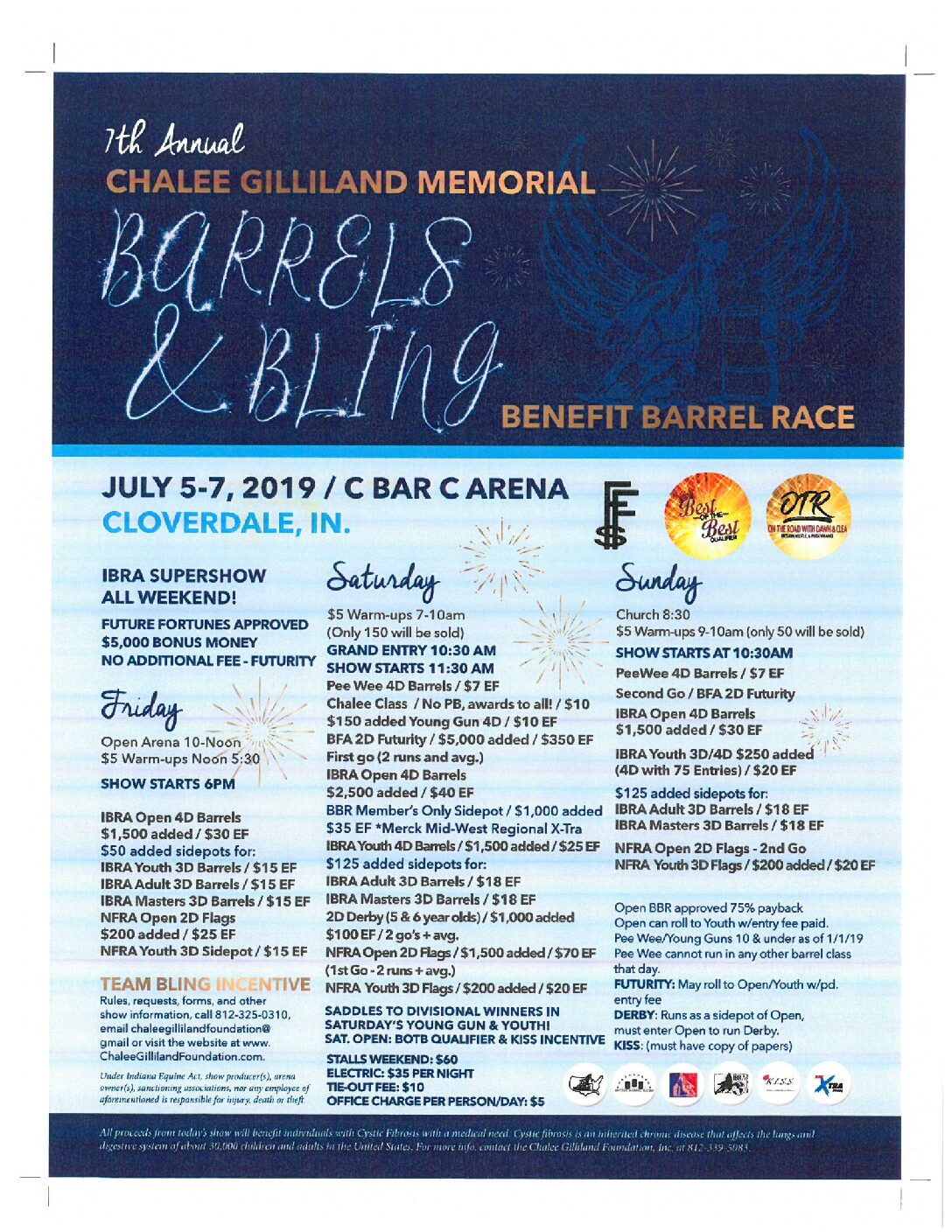 Chalee Gilliland Memorial Barrels And Bling Benefit Race 2019